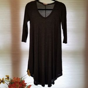 Reborn J Charcoal Gray Tunic Dress